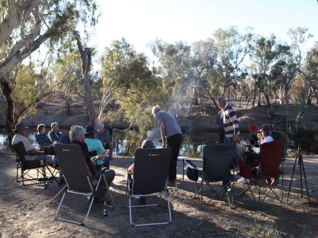 Campfire at Brewarrina